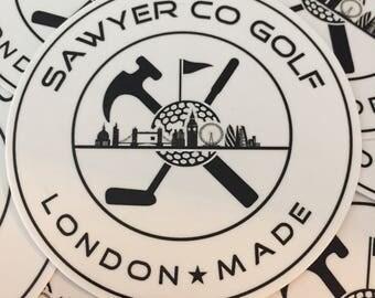 """3"""" Stickers - Sawyer Co Golf"""