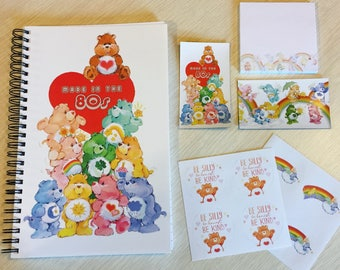Care Bears Stationery Set  (notebook, post-its, stickers, magnets)