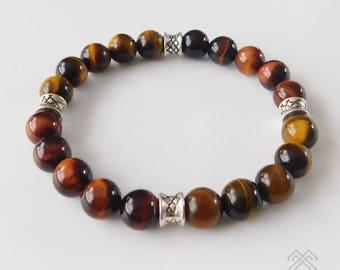 Tigers eye bracelet - Mens bracelet - Beaded bracelet - Tigers eye beads