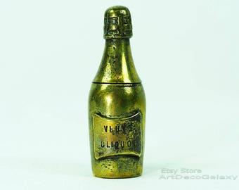 Veuve Cliquot Antique Champagne Bottle Vesta Case-c1900