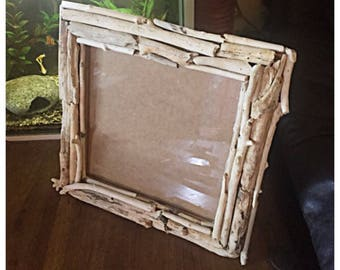 Handcrafted Beautiful Large Driftwood Photo Frame. Wall or Free Standing.