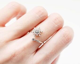 Snowflake ring   Etsy