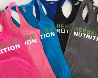 Herbalife Nutrition Racerback Tank, Workout Tank, Herbalife 24 hour Athlete, Womens Custom Tank