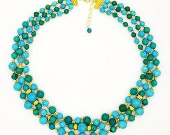 "18"" Turquoise Magnesite Necklace"