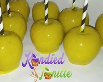 Yellow Candy Apples