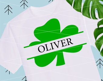 Shamrock Svg St Patricks day svg Clover svg Irish svg Lucky svg files for Cricut Silhouette dxf Monogram svg Monogram frame svg png dxf lfvs