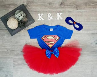 Supergirl costume,Superman tutu costume, Super girl costume, tutu costume,girls inspired superhero costume,  Available 1-5 years old