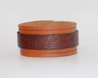 Brown Leather Bracelet - Brown Leather Cuff - Men's Leather Cuff - Women's Leather Cuff - Leather Jewelry - Men's Bracelet -Women's Bracelet