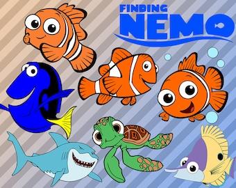 Nemo SVG, Finding Nemo Clip art files, Disney Movie Nemo Svg, dxf, eps & png files, Nemo cutfiles, Cuttable nemo vectors, cricut, silhouette