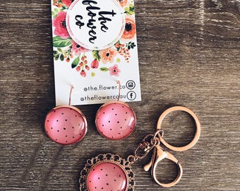 Earrings | Drop Earrings | Rose Gold Earrings | Rose Gold Drop Earrings | Gifts for Her | Watermelon Earrings