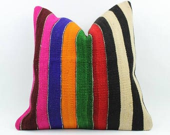 Turkish Kilim Pillow, Home Decor, Decorative Pillow, Home Design, Kilim Cushion, Pillows, Home Living, Decorative Pillow