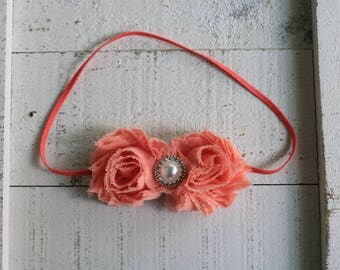 Mini Shabby Chiffon headband.