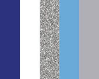 """Winter HTV Color Bundle (5) 12"""" X 9"""" Sheets, Heat Transfer Vinyl, Easy Weed, HTV, T Shirt Vinyl, Heat Press Vinyl, DIY, regular htv sheets"""
