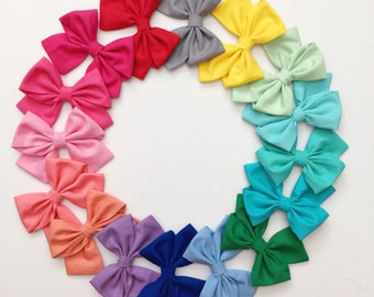 One Day SALE !! Solid Sailor Bows ! More Color Option!