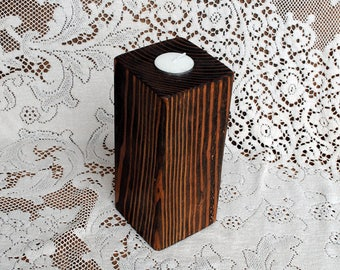 Real Wood Wedding -  Wedding Medium Pillar Votive Candle Holder
