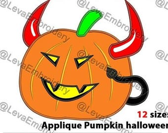 Pumpkin halloween. Pumpkin halloween machine embroidery design. 12 sizes.