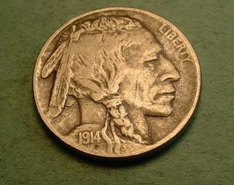 1914-D Buffalo Nickel Full Horn Nice / Insurance included in SH  <>ET5379