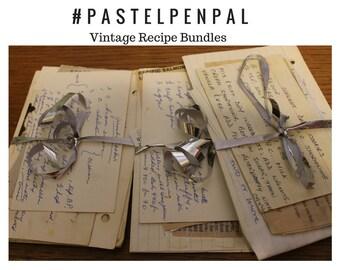 Vintage, Recipe, Bundle, Set,Pack