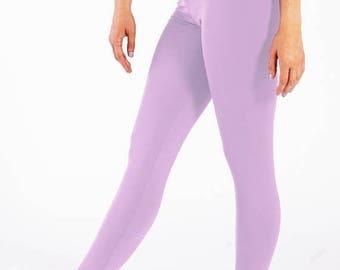 Lavender High Waisted Compression Leggings