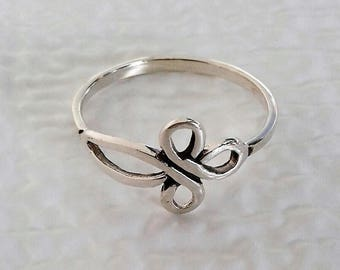Celtic Ring, Solid Sterling Silver Celtic Cross Ring, Celtic Jewelry