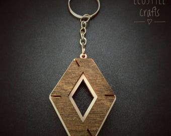 Renault car keychain with logo made of wood - Laser Cut Wooden Keychain for men and women cool car key ring renault gift idea porte clé