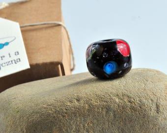 Black cylinder galaxy bead