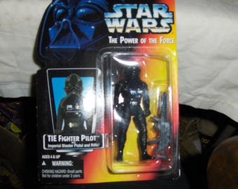 "Star Wars ""The Power Of The Force"" TIE Fighter Pilot action figure"