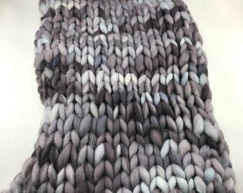 Grey merino wool layering blanket