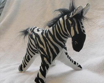 Cuddly, Stuffed Zebra