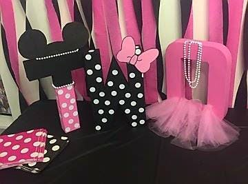 Minnie Mouse Letters Minnie Mouse Birthday Birthday Decoration