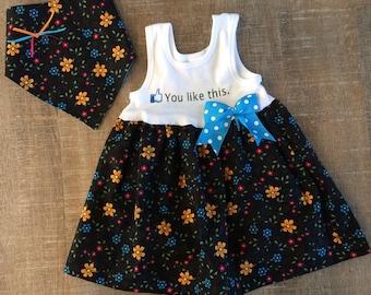 Tank Dress/ Skirted Romper Dress/ Baby Girl Dress Set/ Floral Baby Dress/ baby girl sundress