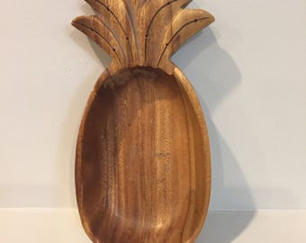 Vintage monkeypod wooden pineapple