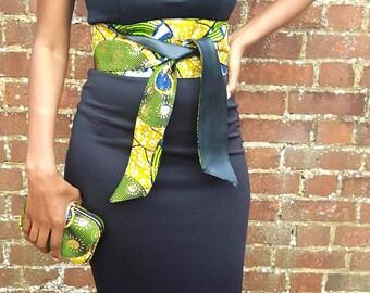 African Print Obi Belt Ankara Obi Belt Printed Wide Waist Belt Jupe Wax Belt Robe Wax Belt African Clothing