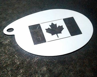 Stencil for face painting and airbrush tattoo - Canada Day (S1004)