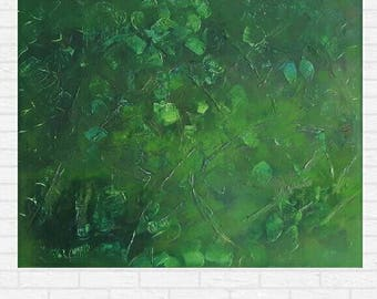 Nature, acrylic on board, ready to hang. 100% cast by hand. 60 × 75 × 2 cm.