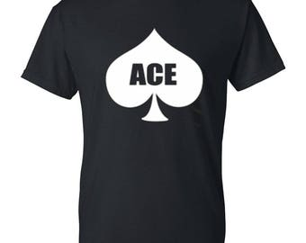 ACE Mens / Womens T-shirt High Quality Fashion Style Hand Crafted Apparel Bulk Orders Discounts !
