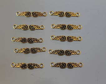10 connector bracelet golden heart - jewelry - charm - charm - angel wing