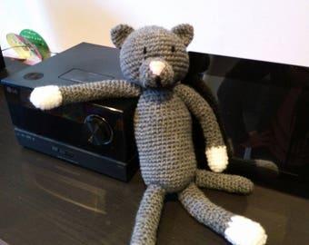 cuddly plush cat crochet wool