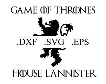 Game of Thrones House Lannister Logo Vector Cut File (DXF, SVG, EPS)
