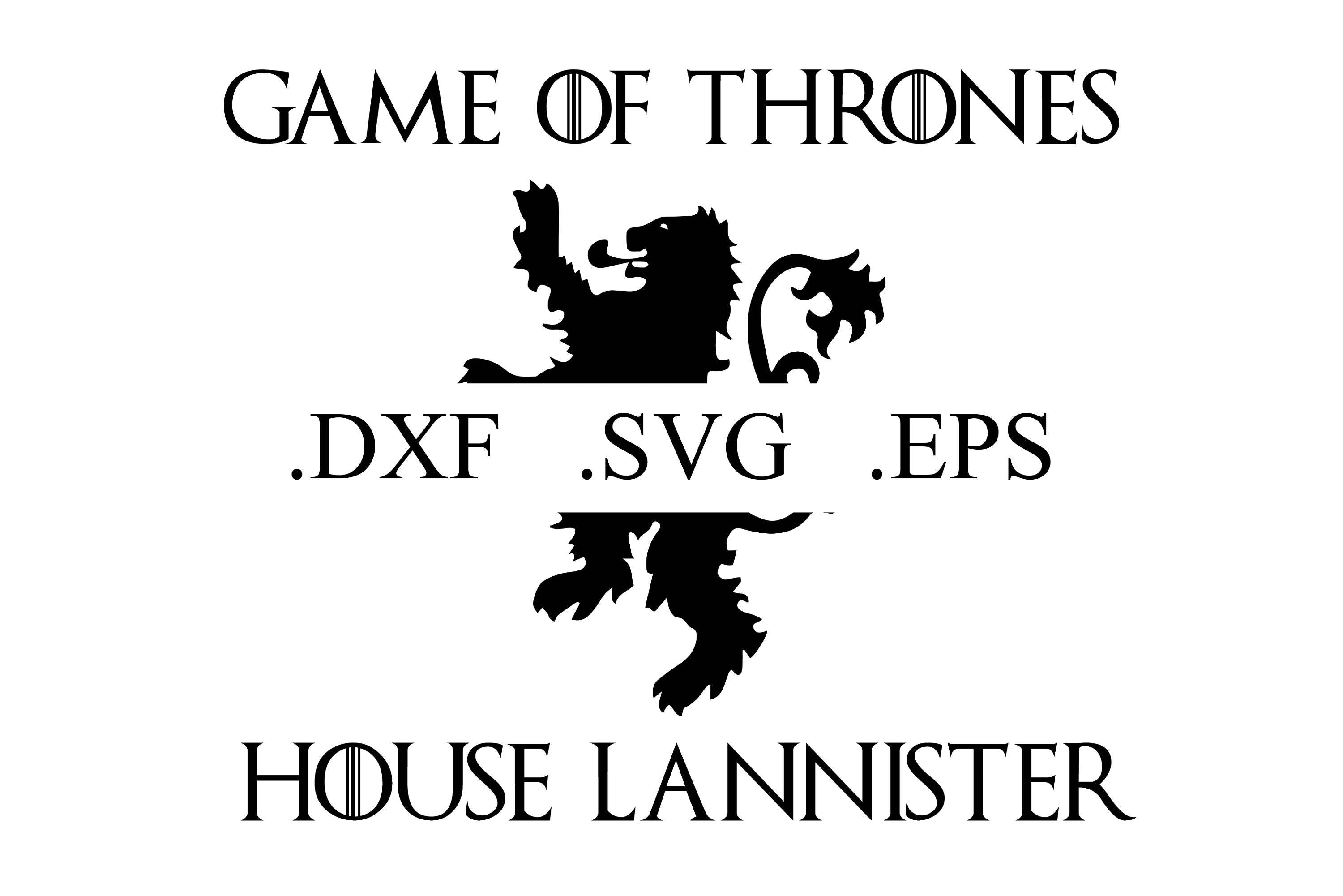 Game Of Thrones House Lannister Logo Vector Cut File Dxf