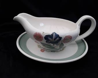 Susie Cooper Gravy Boat and plate.