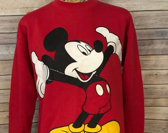 Vintage Disney Mickey Mouse Crewneck Sweatshirt