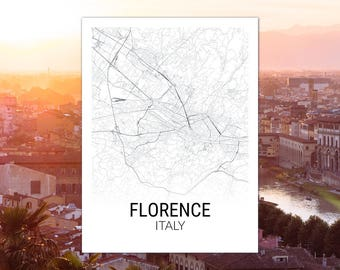 Florence Italy Map Print