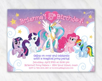 My Little Pony Invitation for Birthday Party - Printable Digital File