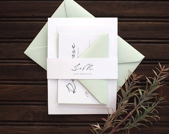 Hand Minimal Wedding Invitation Set