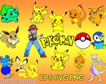 Pokemon svg,  pokeball svg,  pokemon clipart,  Pikachu clipart, Pikachu svg, pokeball sticker,  pokemon team, pokemon stickers, cartoons svg