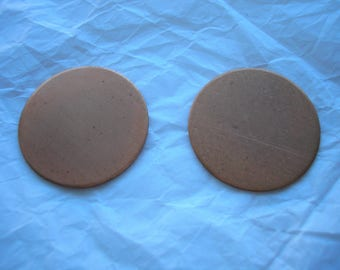 "Copper Circles 1"", For Enameling, Metal Circle Blanks, Pack of 2, Copper Enameling Supply, Metal Stamping, Jewelry Making, Metal Blanks"