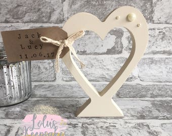 Personalised Wedding or Anniversary Heart