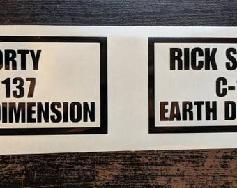 C-137 Rick and Morty decal