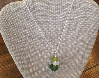 Sea Glass Necklace from Southern France (Nice)
